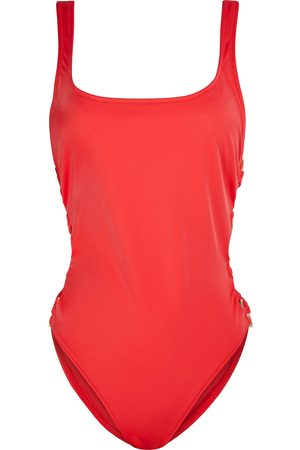 Solid Women Swimsuits - Woman The Jennifer Ring-embellished Swimsuit Size S