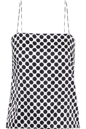 ALEXANDRE VAUTHIER Women Camisoles - Woman Open-back Polka-dot Silk-blend Satin Camisole Size 40