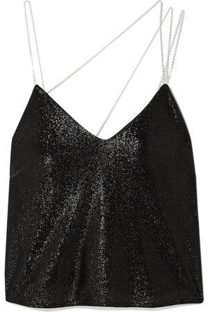 Michelle Mason Woman Crystal-embellished Lurex Camisole Size L