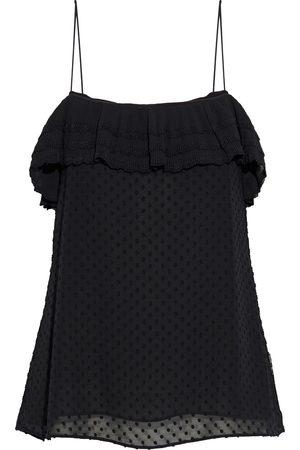 ZIMMERMANN Women Camisoles - Woman Ruffled Plissé-trimmed Fil Coupé Chiffon Camisole Size 1