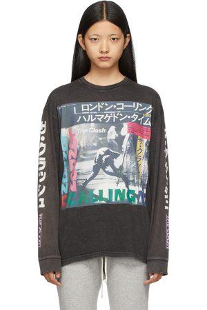 R13 Black 'Clash Armagideon Time' Long Sleeve T-Shirt