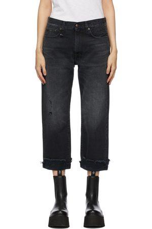 R13 Women Boyfriend Jeans - Black Boyfriend Jeans