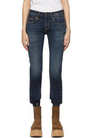 R13 Blue Straight Boy Jeans