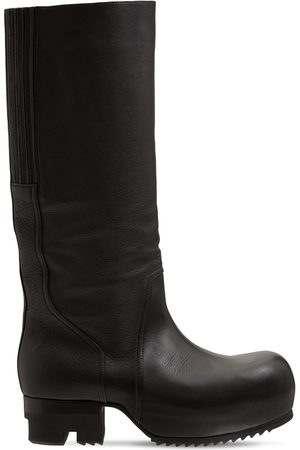 Rick Owens Ballast Knee High Leather Boots