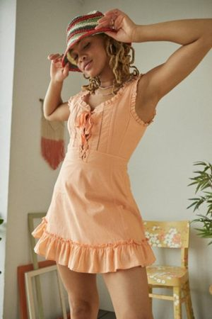Urban Outfitters UO Rose Babydoll Mini Dress