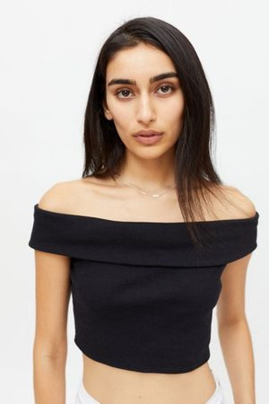 Urban Outfitters Women Strapless Tops - UO Mikie Off-The-Shoulder Cropped Top
