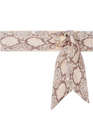 ZIMMERMANN Woman Snake-print Silk-twill Scarf Animal Print Size