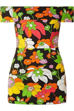 DODO BAR OR Women Printed Dresses - Woman Lippa Off-the-shoulder Floral-print Swim Dress Size M