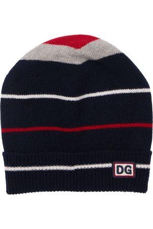 Dolce & Gabbana Intarsia Virgin Wool Knit Beanie