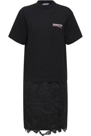 Balenciaga Cotton Jersey T-shirt Dress