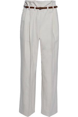 Brunello Cucinelli Woman Belted Wool Straight-leg Pants Size 38