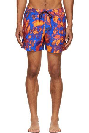 Tiger of Sweden Men Shorts - Blue & Red Sjo Shorts