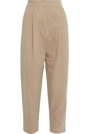 Brunello Cucinelli Women Pants - Woman Cotton And Linen-blend Twill Tapered Pants Neutral Size 38