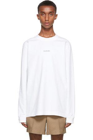 Acne Studios White Printed Long Sleeve T-Shirt
