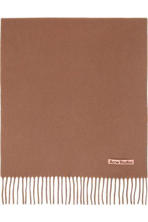 Acne Studios Men Scarves - Brown Wool Narrow Scarf