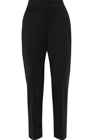 Brunello Cucinelli Women Pants - Woman Wool-blend Twill Tapered Pants Size 42