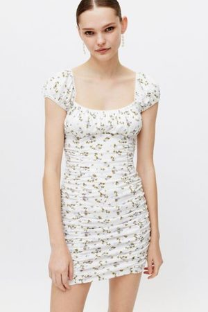 Urban Outfitters Women Party Dresses - UO Brenan Printed Ruched Mini Dress