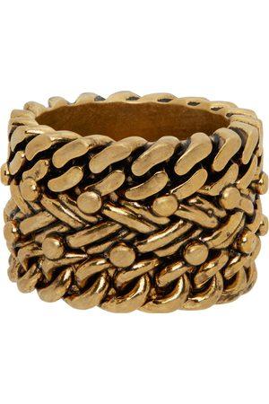 Dsquared2 Men Rings - Gold Ba'N Rope Ring