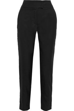 Brunello Cucinelli Women Skinny Pants - Woman Bead-embellished Satin-trimmed Wool And Silk-blend Twill Slim-leg Pants Size 36
