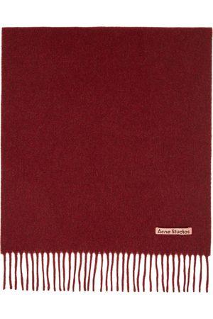Acne Studios Men Scarves - Red Wool Narrow Scarf