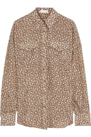Brunello Cucinelli Women Long sleeves - Woman Printed Silk Shirt Taupe Size M