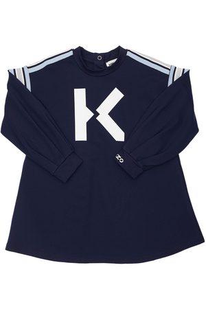 Kenzo Logo Print Viscose Blend Sweat Dress
