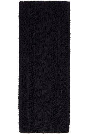 Maison Margiela Men Scarves - Navy Wool Scarf