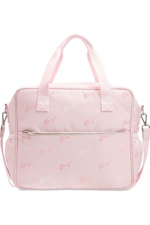 Kenzo Girls Rucksacks - Logo Recycled Nylon Changing Bag & Pad