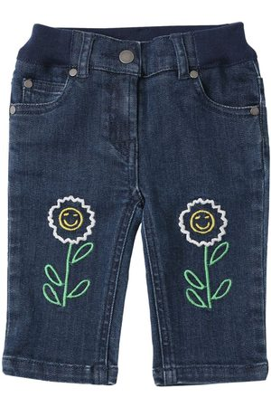 Stella McCartney Girls Stretch - Embroidered Stretch Organic Jeans