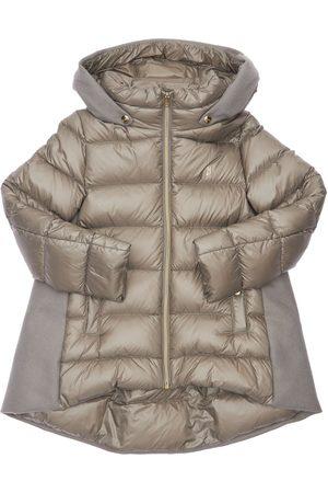 HERNO Hooded Nylon & Wool Down Coat