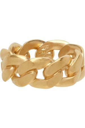 Maison Margiela Men Rings - Gold Semi-Polished Chain Ring