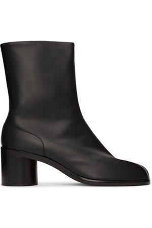 Maison Margiela Men Boots - Black Mid Heel Tabi Boots