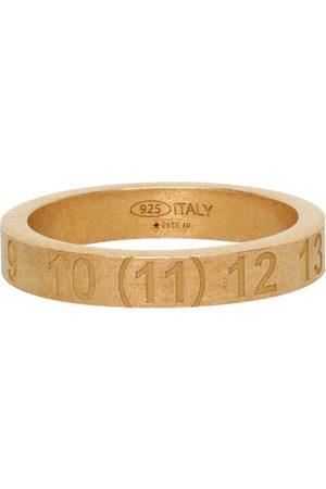 Maison Margiela Men Rings - Gold Numbers Ring