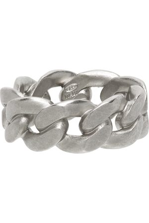 Maison Margiela Men Rings - Silver Semi-Polished Chain Ring