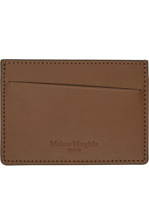 Maison Margiela Men Wallets - Brown & Black Leather Card Holder