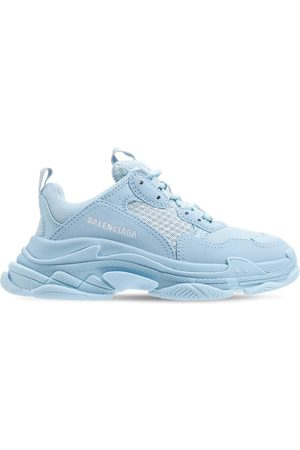 Balenciaga Girls Sneakers - Triple S Lace-up Sneakers