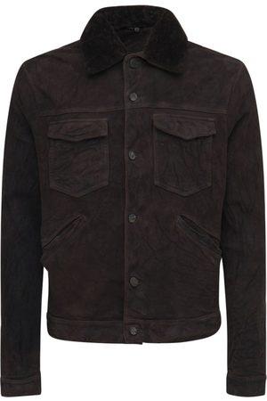 GIORGIO BRATO Leather Jacket W/shearling Collar