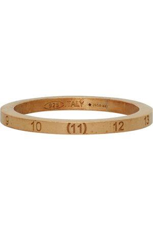 Maison Margiela Gold Slim Numbers Ring
