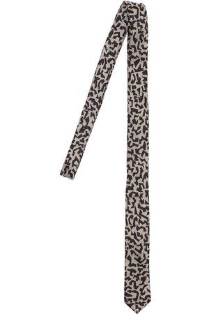 Saint Laurent Men Neckties - Leopard Print Silk Tie