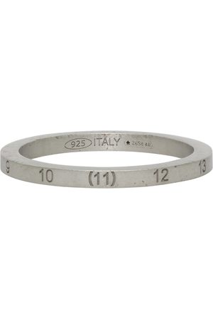 Maison Margiela Men Rings - Silver Slim Numbers Ring