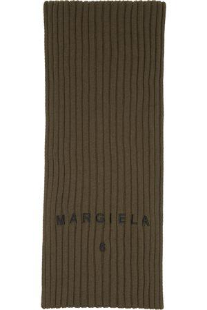 MM6 MAISON MARGIELA Women Scarves - Khaki Ribbed Logo Scarf