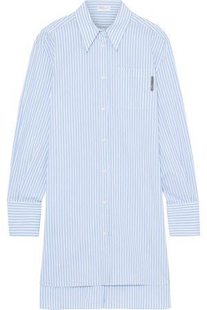 Brunello Cucinelli Women Long sleeves - Woman Bead-embellished Striped Cotton-blend Poplin Shirt Light Size M
