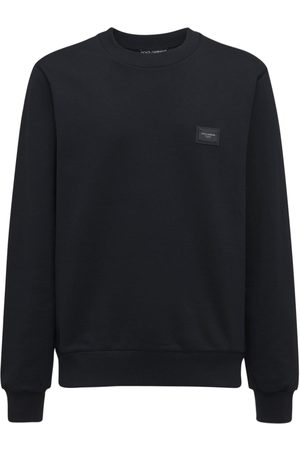 Dolce & Gabbana Logo Plaque Cotton Sweatshirt