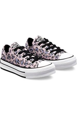 Converse Girls Platform Sneakers - Girls' Leopard Heart All Star Platform Sneakers - Walker, Toddler, Little Kid