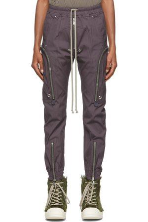 Rick Owens Men Cargo Pants - Purple Bauhaus Cargo Pants