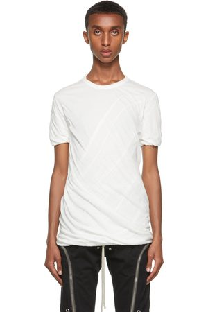 Rick Owens Men Short Sleeve - White Double Short Sleeve T-Shirt