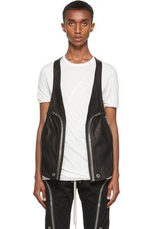 Rick Owens Men Gilets - Black Leather Bauhaus Vest