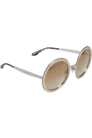 Dolce & Gabbana Silver Tone/ DG2179 Round Sunglasses