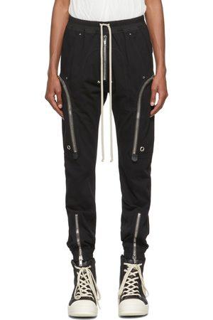 Rick Owens Men Cargo Pants - Black Jersey Bauhaus Cargo Pants