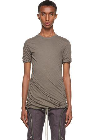 Rick Owens Men Short Sleeve - Grey Double Short Sleeve T-Shirt